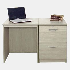 R White Home Office Desk Set with Two Drawers Grey Nebraska