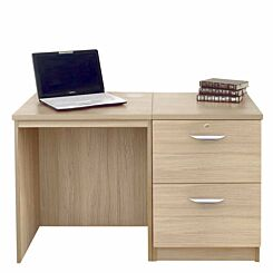 R White Home Office Desk Set with Two Drawers Sandstone