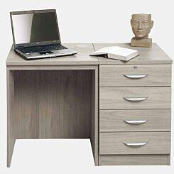 R White Home Office Desk Set with Four Drawers Grey Nebraska