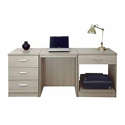 R White Home Office Furniture Desk Set Grey Nebraska