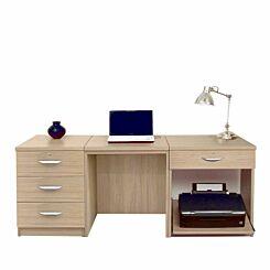 R White Home Office Furniture Desk Set Sandstone