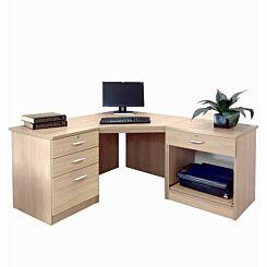 R White Home Office Corner Desk Sandstone