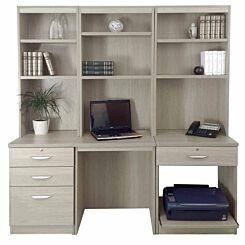 R White Home Office Desk Workstation Grey Nebraska