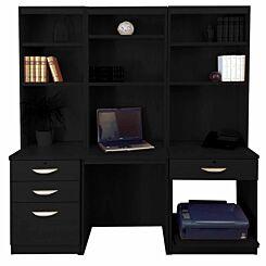 R White Home Office Desk Workstation Black Havana