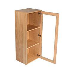 Oakwood AW6327-NBC Narrow Glazed Bookcase H1150xW450xD360mm