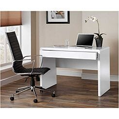 Luxor Gloss Workstation/Desk with Hidden Drawer White