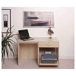 R White Home Office Desk Set with Drawer