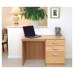 R White Home Office Desk Set with Drawers Oak