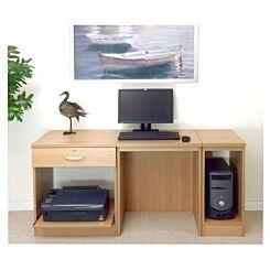 R White Home Office Furniture Desk Classic Oak Wood Grain