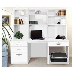 R White Home Office Desk Workstation White