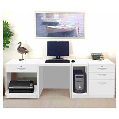 R White Home Office Wide Desk White