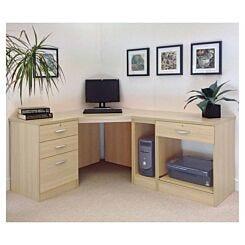 R White Home Office Wide Corner Desk Set