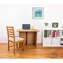 The Paper Hive Pop Up Cardboard Desk Adult Large