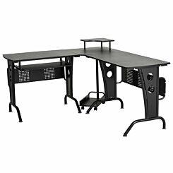 Ranworth Corner Gaming Desk Black