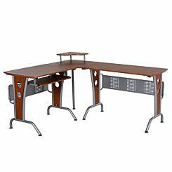 Ranworth Corner Gaming Desk Brown