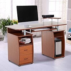 Redbrook Computer Desk with Storage Walnut