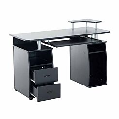 Redbrook Computer Desk with Storage Black