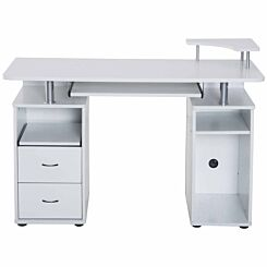 Redbrook Computer Desk with Storage White