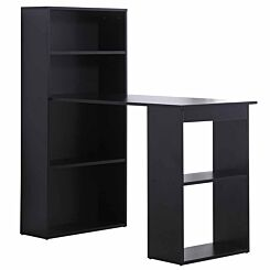 Bijou Computer Desk with Bookshelf 120cm Black