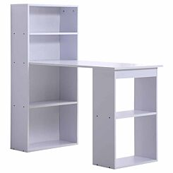 Bijou Computer Desk with Bookshelf 120cm White