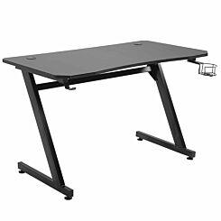 Camilla Gaming Desk with Steel Frame Black