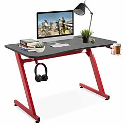 Camilla Gaming Desk with Steel Frame Red