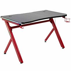 Cordelia Gaming Desk with Steel Frame and LED Light