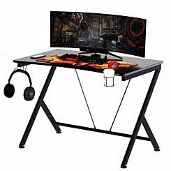 Genevieve Gaming Desk with Steel Frame