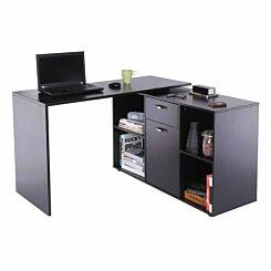 Hermione Dual-use L-Shaped Computer Desk Black