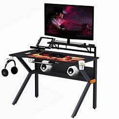 Jolie Gaming Desk with Tablet Holder Black