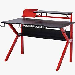 Jolie Gaming Desk with Tablet Holder Red