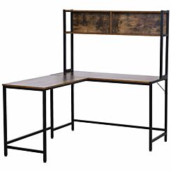 Arden Industrial L-Shaped Desk with Storage