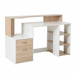 Harper Home Office Desk with Storage Oak