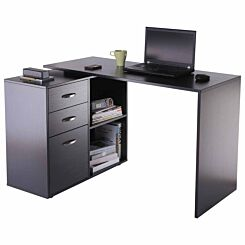 Langley 2 in 1 Desk with Drawers Black
