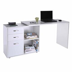 Langley 2 in 1 Desk with Drawers White