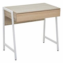 Interiors by PH Study Desk with Double Drawer White