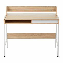 Interiors by PH Study Desk with Storage White