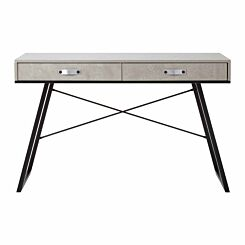 Interiors by PH Study Desk with 2 Drawers Grey