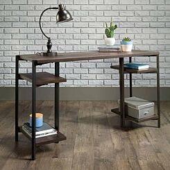 Teknik Office Industrial Style Chunky Desk Dark Oak