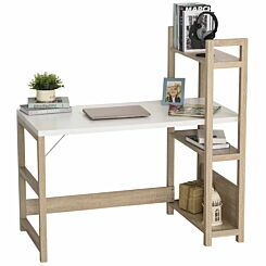 Bailey Home Office Desk with Book Shelf