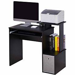 Aeric Computer Desk with Storage Black