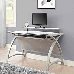 Jual Helsinki Large Curve Glass Desk with Keyboard Tray