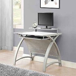 Jual Helsinki Curve Glass Laptop Desk with Keyboard Tray
