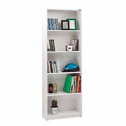 Max 5 Tier Bookcase 170cm Tall White