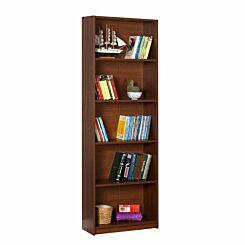 Max 5 Tier Bookcase 170cm Tall Walnut