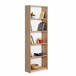 Max 5 Tier Bookcase 170cm Tall Oak