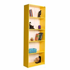 Max 5 Tier Bookcase 170cm Tall Yellow