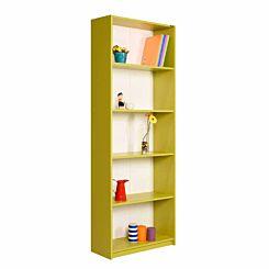 Max 5 Tier Bookcase 170cm Tall Green