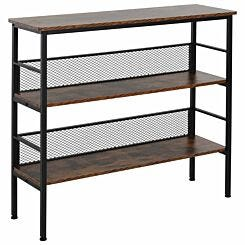 Adler 3-Tier Industrial Style Storage Shelf