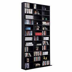 Dixon Media Storage Bookcase Black